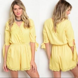 Adorable Yellow Romper by Angela Fashion